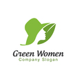 Green Women Design vector image