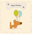 greeting card with dog vector image vector image