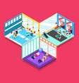 gym isometric design concept vector image vector image