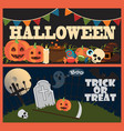 halloween trick or treat on vector image vector image