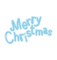 Hand drawn Merry Christmas isolated on white vector image