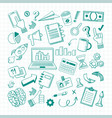 handdrawn business elements sketch set growth vector image