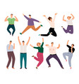 happy casual people diverse casual clothing vector image