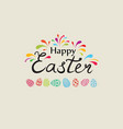 happy easter greeting card holiday bakground with vector image vector image