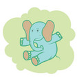 happy elephant vector image