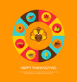 happy thanksgiving concept vector image vector image