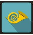 Horn trumpet icon flat style vector image vector image