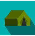 Hunting tent flat icon vector image