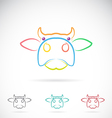 image of an cow face vector image vector image