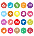 Internet useful flat icons on white background vector image vector image