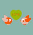 laser cut template birds in love couple of birds vector image