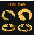 Laurel Crown Set Greek Wreath With Golden Leaves vector image vector image