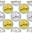 lemons black and white for coloring vector image vector image