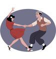 Lindy Hop dancing vector image vector image