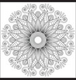 mandala floral flower oriental coloring book page vector image vector image