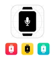 Microphone in smart watch icon vector image vector image