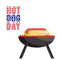 national hot dog day flat banner vector image vector image