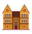old european style residential building and vector image vector image