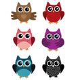 owl set vector image vector image