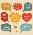 premium logos set flat style speech vector image vector image