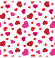 red and pink hearts seamless pattern cute vector image