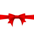 red ribbon with a bow vector image vector image