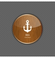 Sea wood application icons vector image vector image