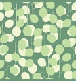 seamless pattern of abstract leaves on a green vector image vector image