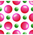 seamless pattern with pink and green balls vector image vector image