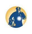 Security Guard Policeman vector image vector image