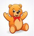 simple cute friendly teddy bear vector image