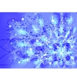 Snowflakes on a blue frosty background EPS10 vector image