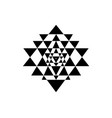 sri yantra sacred geometry symbol hindu tantra vector image vector image