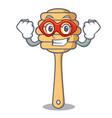 super hero honey spoon character cartoon vector image vector image