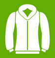 sweatshirt icon green vector image vector image