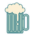tattoo style icon a beer tankard vector image vector image