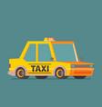 taxi car flat design vector image vector image
