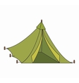 tent camping isolated icon vector image vector image