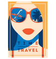 Time to travel and summer camp poster
