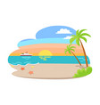 tropical view summer seaside vector image vector image