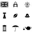 uk icon set vector image vector image