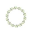 vintage floral round frames green decorative ivy vector image vector image