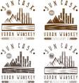 vintage labels set of urban whiskey vector image vector image