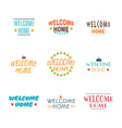 Welcome home collection Set of 9 colored labels vector image vector image
