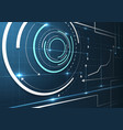 Abstract technical interface vector image