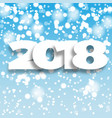 happy new year 2018 blue background vector image