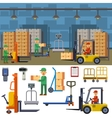 Warehouse storage vector image