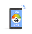 phone fast 4g internet technology smartphone vector image
