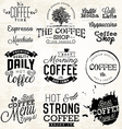 Vintage Coffee Labels and Typographic Elements vector image