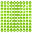 100 water recreation icons set green vector image vector image